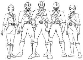 Free Coloring Pages Of Red Power Rangers