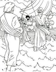 Christian Coloring Pages Matthew 1422 36