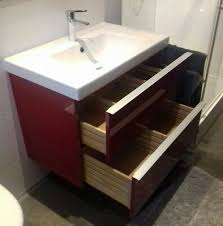 godmorgon ikea badezimmer rot hochglanz waschbecken
