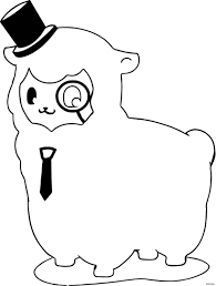 Alpaca Drawing At Com Free For Personal Use Alpa On Unique Kawaii Coloring Pages Mamegoma Mold