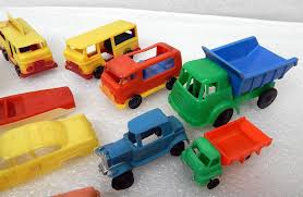 100 Big Toy Trucks BIG Lot Vintage 1960s Plastic Cars More Hong Kong