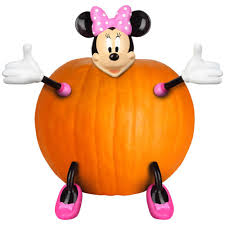 Minnie Mouse Painted Pumpkin by 11 42 In Pumpkin Push In Minnie Mouse Kit 71448 The Home Depot