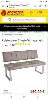 polsterbank trieste vintage hell braun 140