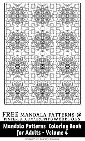 FREE Pattern Coloring Pages For Adults From The Book Mandala Patterns