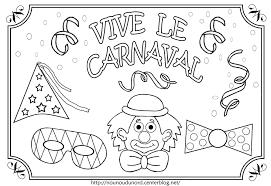 Coloriages Carnaval Gratuits A Imprimer