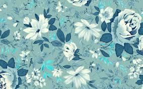 Vintage Wallpaper Floral Blue
