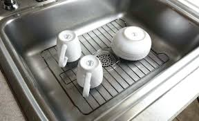 Kitchen Sink Protector Mats by Sinks D Shaped Sink Mat Kitchen Better Houseware Protector L