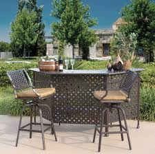 diy outdoor bar height table and chairs outdoor bar height table