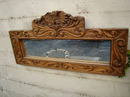 Mexican Colonial Hand Carved Wood Framed Mirror A176 SOLD