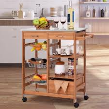 Kandy 4 Tier Kitchen Cart With Stainless Steel Top