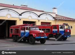 100 Old Fire Trucks Two Fire Trucks Near Fire Station Stock Photo Eillen_1981 151450892