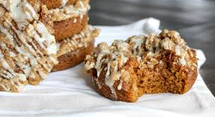 Pumpkin Muffins At Dunkin Donuts 2015 by Baked Pumpkin Donuts With Coffee Cake Streusel U0026 Maple Glaze