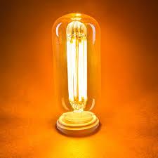 t14 led filament bulb 45 watt equivalent vintage light bulb w