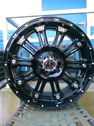 100 20 Inch Truck Rims KMC Wheels Used Black XD Hoss S
