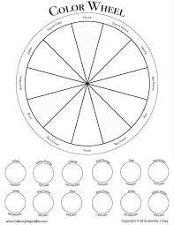 Free Color Wheel Worksheet