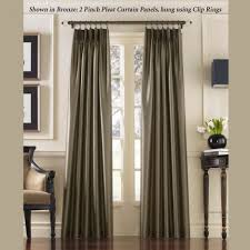 Faux Dupioni Silk Drapes Tapestry Curtains Cheap Lounge Living Room