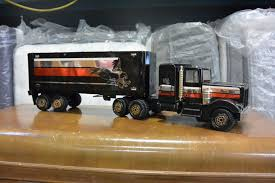 100 Steel Tonka Trucks VINTAGE BLACK METAL TONKA TRUCK WITH TRAILER
