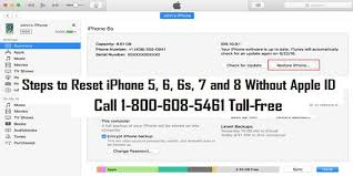 How to Reset iPhone 5 6 6s 7 and 8 Without Apple ID 1 800 608 5461