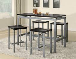 Bar Stools Dining Area Furniture Wooden Table Style Inside High And