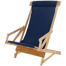Telescope Beach Chairs Free Shipping by Reclining Wood Beach Sling Chair Beachstore Com
