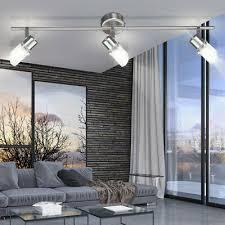 decken spots beweglich wohnzimmer glas zylinder le