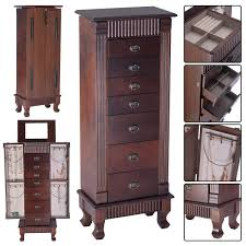 Ebay Dresser With Mirror by Wooden Jewelry Cabinet Storage Organizer With 7 Drawers Armoires