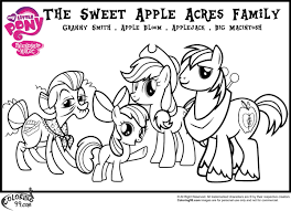 My Little Pony Apple Family Coloring Pages