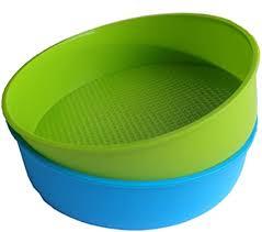 sodial silikon form back formen 26cm 10 zoll runde kuchen form back form blaue und grüne farben sind zuf llig