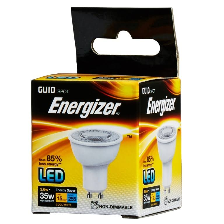 Energizer LED GU10 Bulb Cool White 3.8W