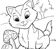 Free Printable Kitten Coloring Pages Download Color For Adults