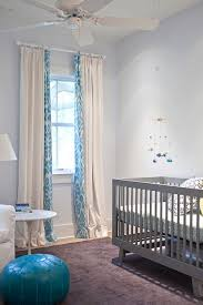 turquoise ikat curtains contemporary nursery heather a