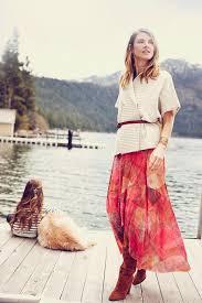 weston fallen sun maxi skirt in orange lyst