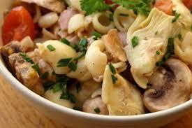 recette de salade de pâtes au coeur d artichauts jambon et