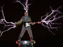 creating electric music in a tesla coil