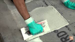 installing ceramic and porcelain floor tile step 5 apply your