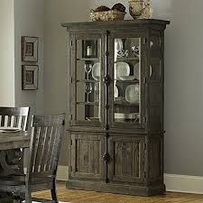 magnussen bellamy wood china cabinet in pine china