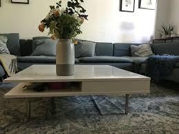 ikea wohnzimmer tisch couchtisch weiß hochglanz