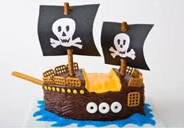 Pirate Ship Birthday Cake Design