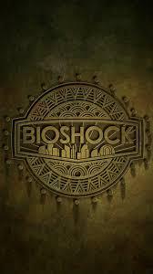 Bioshock Logo iPhone 5 SE Wallpaper