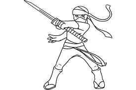 Ninja Coloring Page Pages Alric For Kids