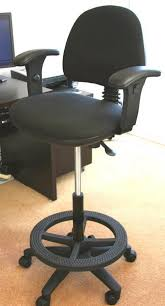 Chic Tall Desk Chair With Footrest Office