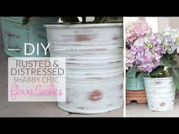 DIY Rusted Distressed Flower Bucket