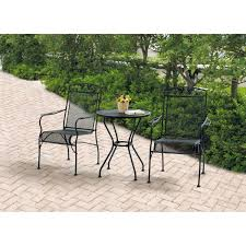 100 Black Wrought Iron Chairs Outdoor Mainstays Jefferson 3Piece Bistro Set Seats 2