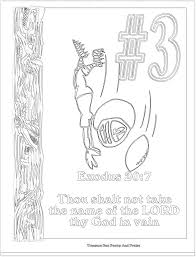 Coloring Pages Ten Commandments Breadedcat Free In Printable