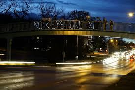 NoKXL Overpass Light Brigade