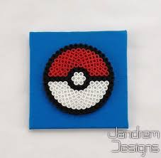 Pokeball Bead Sprite On Small Canvas