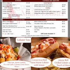 100 Cousins Maine Lobster Truck Menu Food White Street Brewing Company