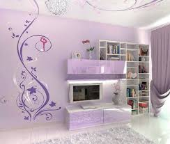 Abstract Murals In Purple Bedroom Design Girls Wall Bring Happiness At Wallpaper Mural Ideas