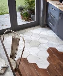 hexagonal marble tiles meet floorboards topps tiles tiles