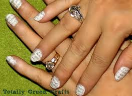 Newspaper Nails Totally Green Crafts Recycle